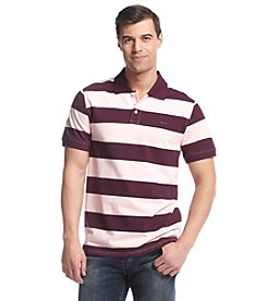 Le Tigre Men's Short Sleeve Rugby Stripe Pique Polo