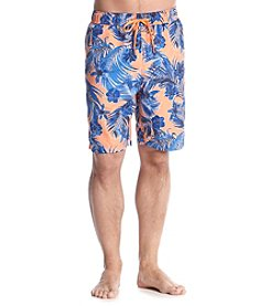 Le Tigre Men's Palm Leaf Print Swim Trunks