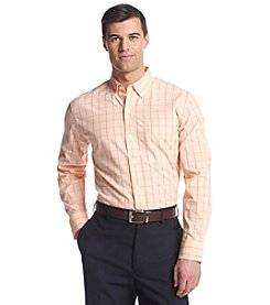 Izod® Men's Long Sleeve Essential Windowpane Woven Button Down Shirt