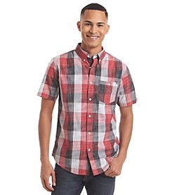 Ocean Current® Men's Tonsai Crosshatch Plaid Short Sleeve Woven Button Down Shirt