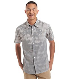Ocean Current® Men's Palmetto Palm Tree Short Sleeve Woven Button Down Shirt