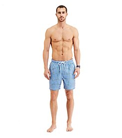 Nautica® Men's Gingham Print Swim Trunk