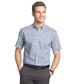 Van Heusen® Men's Short Sleeve Indigo Woven Button Down Shirt