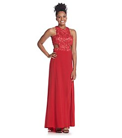Morgan & Co.® Lace And Chiffon Gown