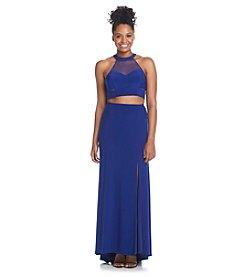 Morgan & Co.® Two Piece Mesh Dress