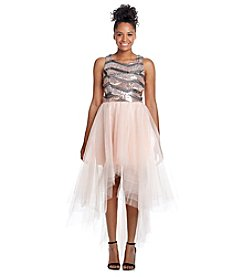 Trixxi® Sequin Tulle Dress