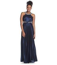 My Michelle® Pleated Satin Dress