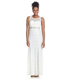 My Michelle® Jeweled Lace Gown
