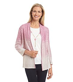 Alfred Dunner® Baton Rouge Dip Dye Layered Look Sweater