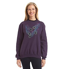 Morning Sun® Fanciful Feathers Fleece Sweatshirt