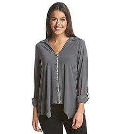 Notations® Embellished V-Neck Top