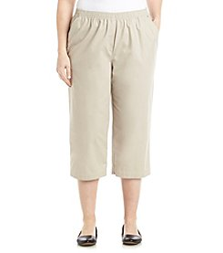 Breckenridge® Plus Size Solid Twill Capris
