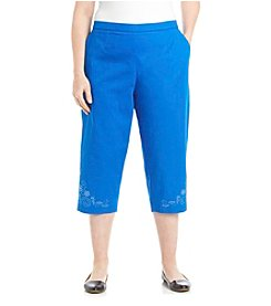 Breckenridge® Plus Size Embellished Heatset Capri
