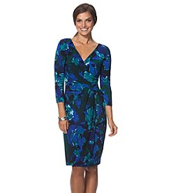 Chaps® Floral Surplice Dress