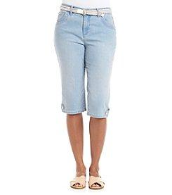 Gloria Vanderbilt® Petites' Lexi Belted Skimmer Denim Capri