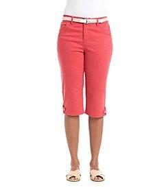 Gloria Vanderbilt® Petites' Lexi Belted Skimmer Twill Capri