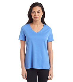 Studio Works Petites' Solid V-Neck Tee