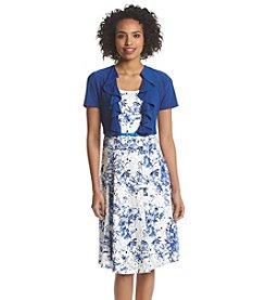 R&M Richards® Floral Lace Jacket Dress