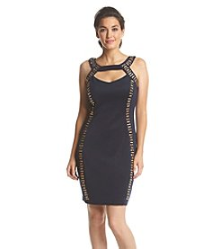 Sangria™ Cut-Out Neckline Scuba Sheath Dress