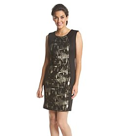 R&M Richards® Foil Panel Sheath Dress