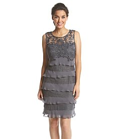 S.L. Fashions Lace Top Sheath Dress