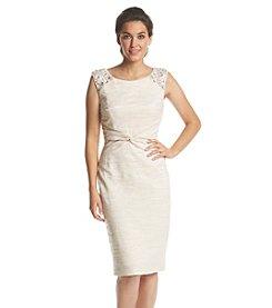 Jessica Howard® Beaded Shoulder Dress