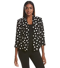 Kasper® Dot Print Jacket