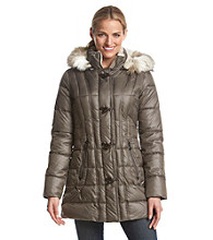Laundry by Design Toggle-Front Puffer Coat