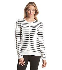 August Silk® Rope Stripe Cardigan