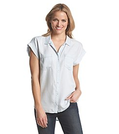 Chelsea & Theodore® Button Front Blouse