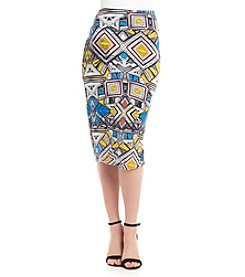 Chelsea & Theodore® Geo Print Pull On Skirt