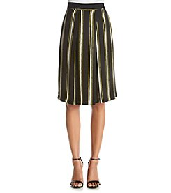 Bobeau Striped Culottes