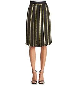 Bobeau Striped Culottes