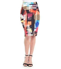 Cupio Printed Pencil Skirt