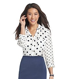 Relativity® Polka Dot Blouse
