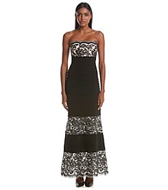 Calvin Klein Lace Crepe Gown
