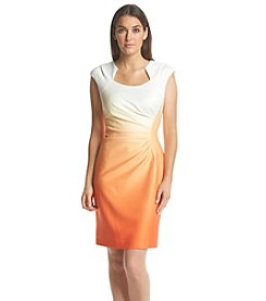 Calvin Klein Horsehoe Scuba Sheath Dress