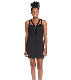 GUESS Cutout Zip Scuba Dress