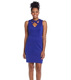 Guess Cage Neck Scuba Sheath Dress