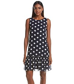 Tommy Hilfiger® Chiffon Polka Dot Dress
