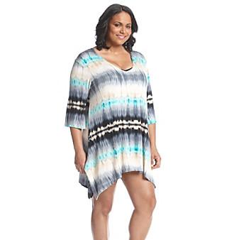 J. Valdi® Plus Size Tie Dye Tunic Cover-Up plus size,  plus size fashion plus size appare