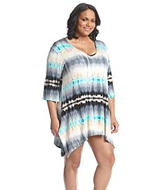 J. Valdi® Plus Size Tie Dye Tunic Cover-Up