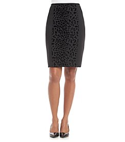 Calvin Klein Petites' Leopard Print Scuba Skirt