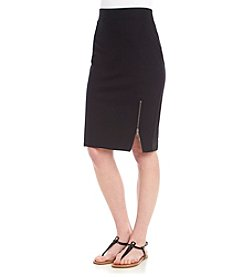 Ruff Hewn GREY Zipper Pencil Skirt