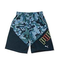PUMA® Boys' 8-20 Camo Logo Shorts