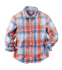 Carter's® Boys' 2T-7 Long Sleeve Plaid Button Down Shirt