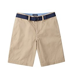 Chaps® Boys' 8-20 Woven Shorts With Belt