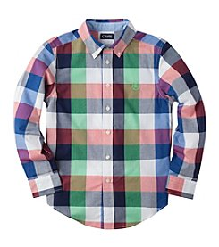 Chaps® Boys' 8-20 Long Sleeve Buff Plaid Woven Shirt