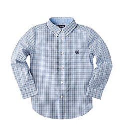 Chaps® Boys' 8-20 Long Sleeve Tattersall Woven Shirt