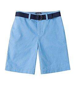 Chaps® Boys' 8-20 Flat Front Twill Shorts